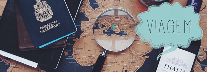 imagem de passaporte e viagem para ilustrar planejamento de Ibitipoca