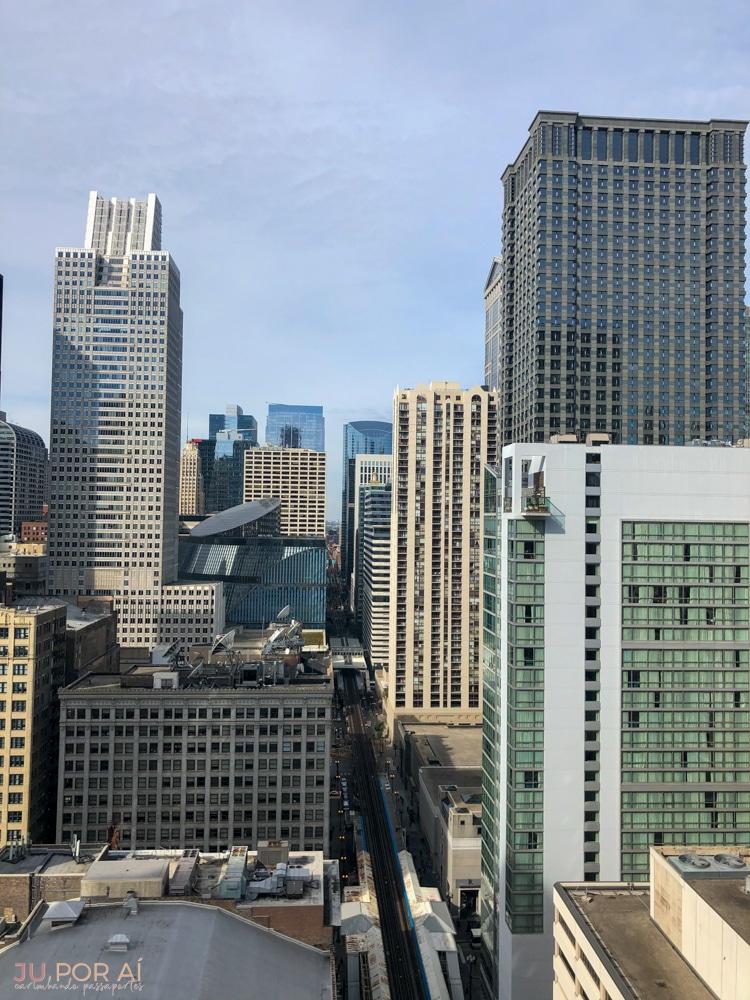 prédios com vista em Chicago