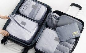 Organizador de Mala - Eu uso para todas as viagens e não sei como fiquei tanto tempo sem. Ajuda muito para economizar espaço na mala!